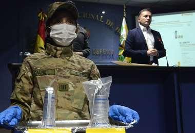 El ministro Fernando López, cuando presentó su informe.  Foto: APG Noticias