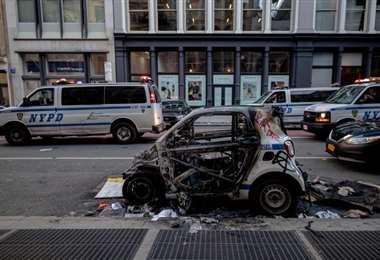 Hubo vandalismo en las manifestaciones. Foto AFP