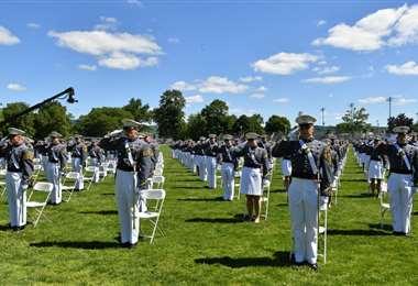 CAdetes de la academia West Point, cerca de Nueva York. Foto AFP
