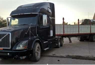 El camión recuperado (Foto: Diprove)