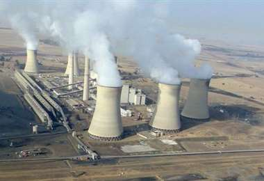 Central de energía de carbón en Middelburg. Sudáfrica. Foto Internet