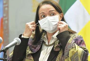 Eidy Roca, ministra de Salud. Foto: APG