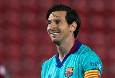 Messi volvió a sonreír al marcar un gol