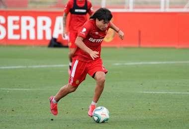 Luka Romero tiene 15 años. Está en el Mallorca desde los 10 años. Este martes podría debutar en primera. Foto: internet