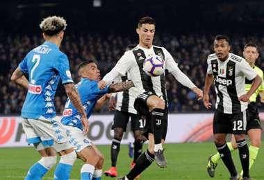 Cristiano Ronaldo busca un nuevo éxito con la Juventus de Turín. El Nápoles será un duro hueso de roer. Foto: Internet