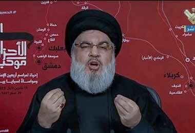 El jefe del movimiento libanés del Hezbolá. Foto Internet