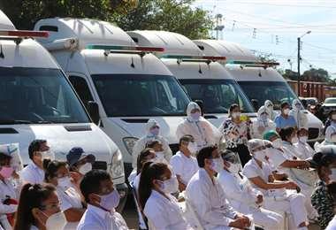 Las ambulancias acompañarán a los brigadistas /Foto: JC Fernández