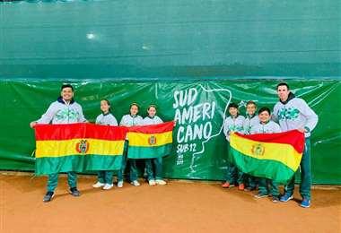 Los integrantes del equipo sub-12 de Bolivia. El año pasado nos representaron en Argentina. Foto: FBT