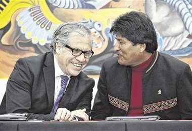 Hace un año, todo entre Morales y Almagro eran sonrisas. Archivo