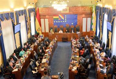La Cámara de Senadores. Foto: ABI.