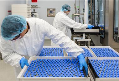 Producción de remdesivir, de laboratorios Gilead.