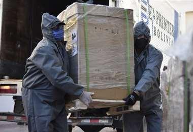 En la Aduana de Viru Viru hay lotes de insumos médicos que no fueron liberados por falta de trámites/Foto: EL DEBER