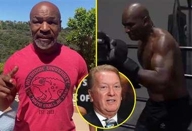 Frank Warren (en círculo) es un promotor de boxeo inglés, que no se mostró interesado en el retorno de Mike Tyson a los cuadriláteros. Foto: Internet