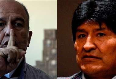 Murillo y Evo, enfrentados. APG Noticias