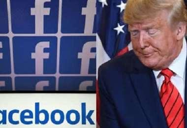 Trump en lucha contra las redes. Foto AFP