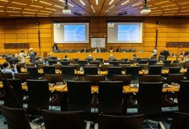 La reunión se realizó de manera virtual. Foto Internet