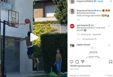 Arturo Vidal hizo un gran clavado y recibió muy buenos comentarios de sus seguidores en Instagram. Foto: Captura de pantalla