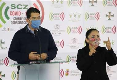 Peña dio una conferencia de prensa donde se refirió al tema