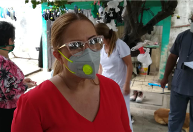 Angélica Sosa, alcaldesa de Santa Cruz. Foto. Ricardo Montero