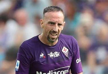 Franck Ribéry, de 37, años, dejó el Bayern de Múnich el año pasado para fichar por la Fiorentina. Foto: Internet