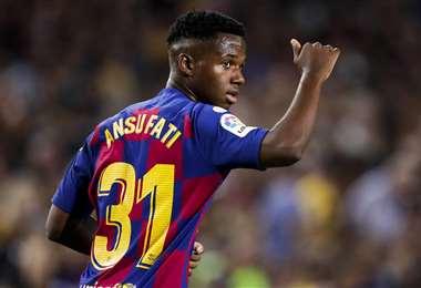 Ansu Fati, es un futbolista hispano-bisauguineano que el 31 de octubre cumplirá 18 años. Foto: Internet