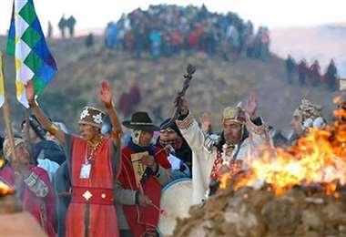 Así era el ritual que se realizaba en Tiwanaku. Archivo