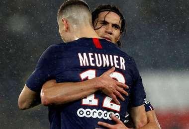 El uruguayo Cavani llegó al PSG en 2013, mientras que el belga Meunier lo hizo tres años después. Foto: Internet