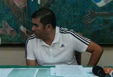 Remberto Gonzales en una rueda de prensa en instalaciones de la ACF, hace un par de años. Foto: Internet
