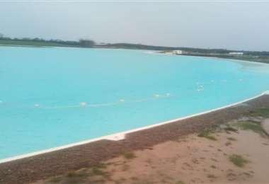 La laguna del condominio Playa Turquesa
