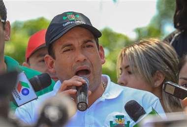 El candidato Luis Fernando Camacho. Foto: ABI.