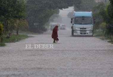 La lluvia cayó por casi 10 horas en la capital cruceña. Foto:Ricardo Montero