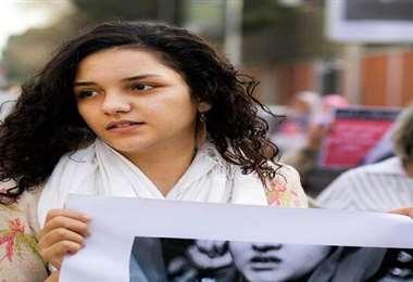 La activista que fue arrestada este martes. Foto Internet