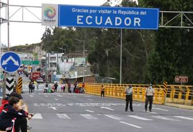 La frontera entre Colombia y Ecuador. Foto El Comercio