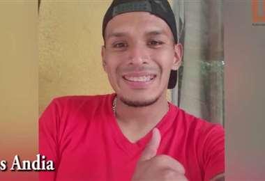 Marco Andia, mediocampista de Guabirá. Foto: internet
