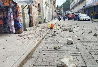 Las calles de Oaxaca sufrieron daño