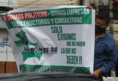 Constructores demandan pagos.  Foto: Hernán Virgo