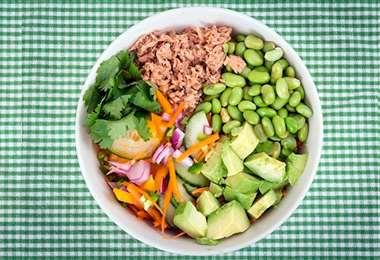 Este es un ejemplo de distribución de los alimentos en el plato. Foto: Internet