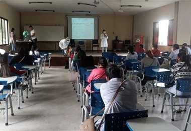 Los estudiantes fueron capacitados. Foto Soledad Prado