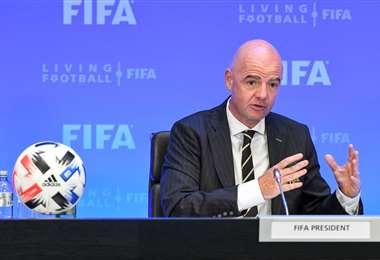 Gianni Infantino, presidente de la FIFA. Foto: AFP
