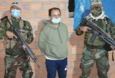 El exgobernador detenido. Foto Andina