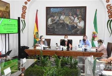 La alcaldesa Angélica Sosa informó al Concejo sobre el avance del plan municipal