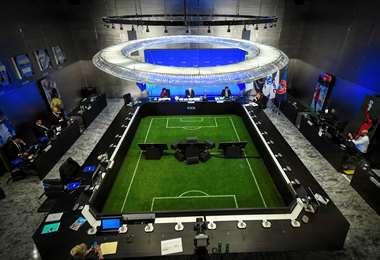 La sala de reuniones de la FIFA en Zúrich, Suiza. Foto:AFP