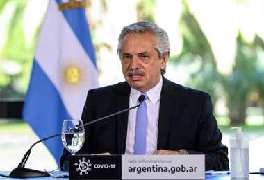 El presidente Fernández anunció las nuevas medidas. Foto AFP
