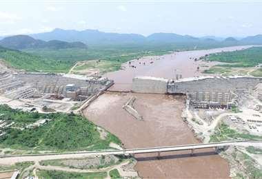 La represa que en Etiopía que es cuestionada por Egipto y Sudán. Foto Internet