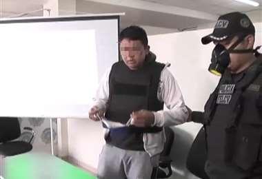 El violador fue presentado hoy por la Policía