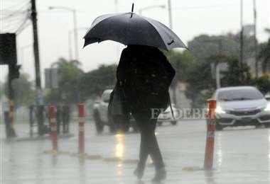 Los últimos días, Santa Cruz sufrió el embate del frío, la lluvia y ráfagas de viento. Foto: Jorge Gutiérrez