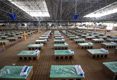 Alistan un centro de atención con 10.000 camas en Nueva Delhi. Foto AFP