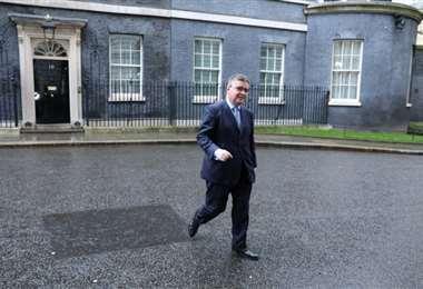 El ministro británico de Justicia. Foto Internet