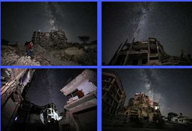 Gráficas que muestran la destrucción en Siria. Fotos AFP