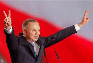 Duda es el candidato a la reelección. Foto AFP